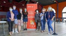 Centre de vaccination éphémère au Barcarès